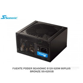 FUENTE PODER SEASONIC S12II 620W 80PLUS BRONZE SS-620GB