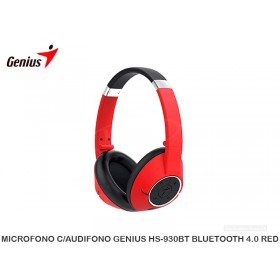 MICROFONO C/AUDIFONO GENIUS HS-930BT BLUETOOTH 4.0 RED
