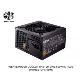 FUENTE PODER COOLER MASTER MWE 650W 80 PLUS BRONZE (MPX-6501)