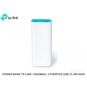 POWER BANK TP-LINK 15600MAH, 2 PUERTOS USB TL-PB15600