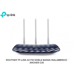 ROUTHER TP-LINK AC750 DOBLE BANDA INALAMBRICO ARCHER C20