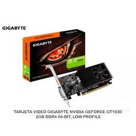 TARJETA VIDEO GIGABYTE NVIDIA GEFORCE GT1030, 2GB DDR4 64-BIT, LOW PROFILE