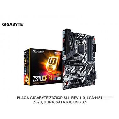 PLACA GIGABYTE Z370XP SLI, REV 1.0, LGA1151, Z370, DDR4, SATA 6.0, USB 3.1