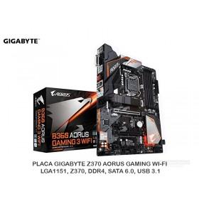 PLACA GIGABYTE B360 AORUS GAMING 3 WIFI, REV 1.0, LGA1151, DDR4, SATA 6.0