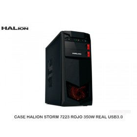 CASE HALION STORM 7223 ROJO 350W REAL USB3.0