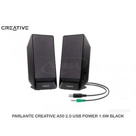 PARLANTE CREATIVE A50 2.0 USB POWER 1.6W BLACK