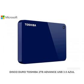 DISCO DURO TOSHIBA 2TB ADVANCE USB 3.0 AZUL