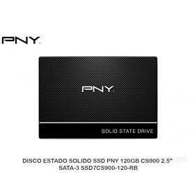 "DISCO ESTADO SOLIDO SSD PNY 120GB CS900 2.5"" SATA-3 SSD7CS900-120-RB"