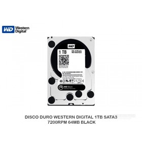 DISCO DURO WESTERN DIGITAL 1TB SATA3 7200RPM 64MB BLACK