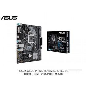 PLACA ASUS PRIME H310M-E, INTEL, 8G, DDR4, HDMI, VGA/PCI-E M-ATX