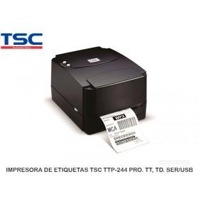 IMPRESORA DE ETIQUETAS TSC TTP-244 PRO. TT, TD. SER/USB