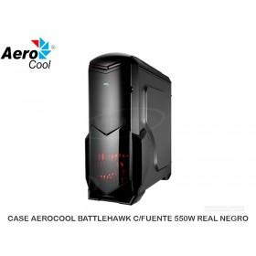 CASE AEROCOOL BATTLEHAWK C/FUENTE 550W REAL NEGRO