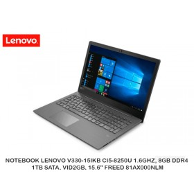 "NOTEBOOK LENOVO V330-15IKB CI5-8250U 1.6GHZ, 8GB DDR4, 1TB SATA, VID2GB, 15.6"" FREED 81AX000NLM"