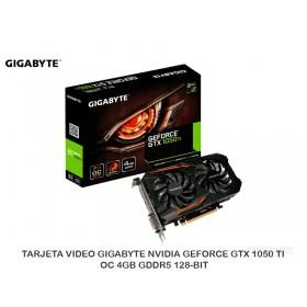 TARJETA VIDEO GIGABYTE NVIDIA GEFORCE GTX 1050 TI OC 4GB GDDR5 128-BIT