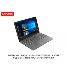 """NOTEBOOK LENOVO V330-15IKB CI7-8550U 1.8GHZ, 8GB DDR4, 1TB SATA, 15.6"""" 81AX000RLM"""