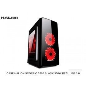 CASE HALION SCORPIO 5506 BLACK 350W REAL USB 3.0