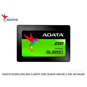 DISCO DURO SOLIDO A-DATA SSD SU650 480GB 2.5IN 3D NAND