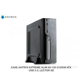 CASE ANTRYX EXTREME SLIM XS-120 C/350W ATX, USB 3.0, LECTOR SD