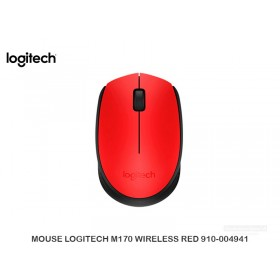 MOUSE LOGITECH M170 WIRELESS RED 910-004941