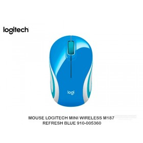 MOUSE LOGITECH MINI WIRELESS M187 REFRESH BLUE 910-005360