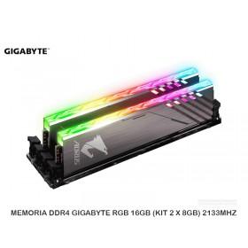 MEMORIA DDR4 GIGABYTE RGB 16GB (KIT 2 X 8GB) 2133MHZ
