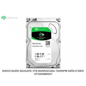DISCO DURO SEAGATE 3TB BARRACUDA 7200RPM SATA 6 GB/S - ST300DM007