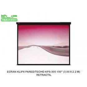 "ECRAN KLIPX PARED/TECHO KPS-305 150"" (3.00 X 2.2 M) RETRACTIL"