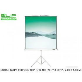 """ECRAN KLIPX TRIPODE 100"""" KPS-103 (78.7"""" X 59.1"""" / 2.00 X 1.50 M)"""