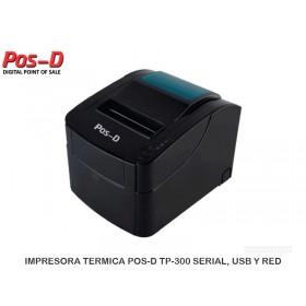 IMPRESORA TERMICA POS-D TP-300 SERIAL, USB Y RED