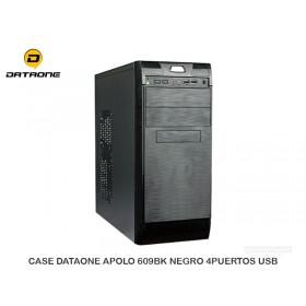 CASE DATAONE APOLO 609BK NEGRO 4PUERTOS USB