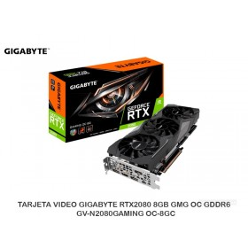 TARJETA VIDEO GIGABYTE RTX2080 8GB GMG OC GDDR6 GV-N2080GAMING OC-8GC