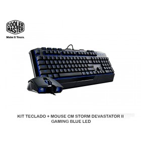 KIT TECLADO + MOUSE CM STORM DEVASTATOR II GAMING BLUE LED
