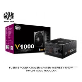 FUENTE PODER COOLER MASTER VSERIES V1000W 80PLUS GOLD MODULAR