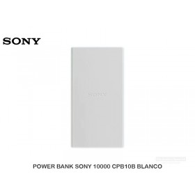 POWER BANK SONY 10000 CPB10B BLANCO