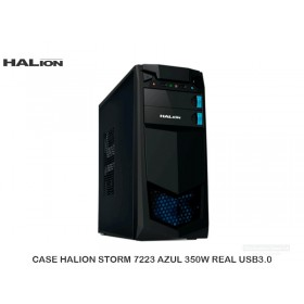 CASE HALION STORM 7223 AZUL 350W REAL USB3.0