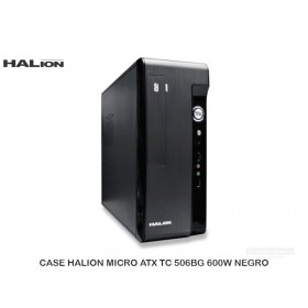 CASE HALION MICRO ATX TC506BS 600W NEGRO