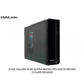 CASE HALION SLIM SUPRA MICRO ATX S601B NEGRO C/CARD READER