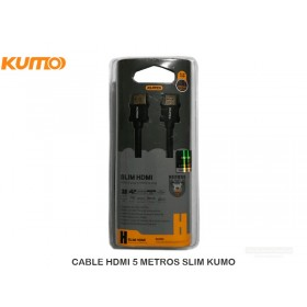 CABLE HDMI 5 METROS SLIM KUMO