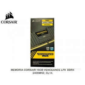 MEMORIA CORSAIR 16GB VENGEANCE LPX DDR4, 2400MHZ, CL14.