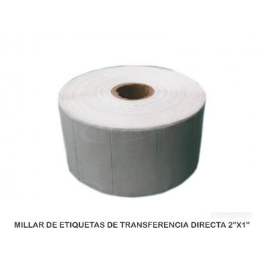 "MILLAR DE ETIQUETAS DE TRANSFERENCIA DIRECTA 2""X1"""