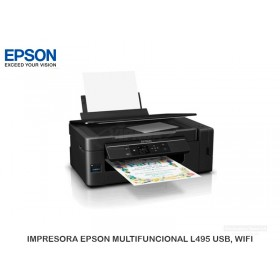 IMPRESORA EPSON MULTIFUNCIONAL L495 USB, WIFI