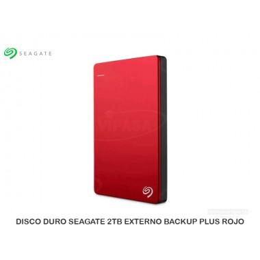 DISCO DURO SEAGATE 2TB EXTERNO BACKUP PLUS ROJO