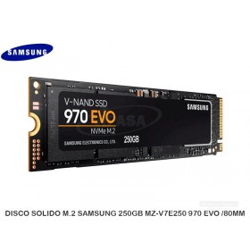 DISCO SOLIDO M.2 SAMSUNG 250GB MZ-V7E250 970 EVO /80MM