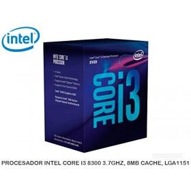 PROCESADOR INTEL CORE I3 8300 3.7GHZ, 8MB CACHE, LGA1151