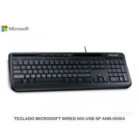 TECLADO MICROSOFT WIRED 600 USB SP ANB-00004
