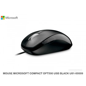 MOUSE MICROSOFT COMPACT OPT500 USB BLACK U81-00009