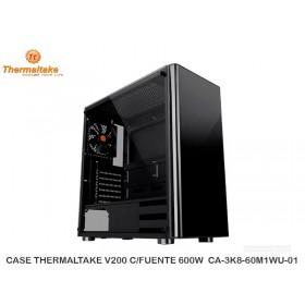 CASE THERMALTAKE V200 C/FUENTE 600W  CA-3K8-60M1WU-01