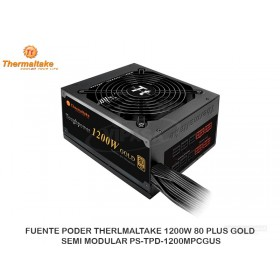 FUENTE PODER THERLMALTAKE 1200W 80 PLUS GOLD SEMI MODULAR PS-TPD-1200MPCGUS