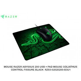 MOUSE RAZER ABYSSUS 200 USB + PAD MOUSE GOLIATHUS CONTROL FISSURE BLACK  RZ83-02020200-B3U1