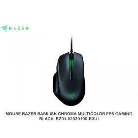 MOUSE RAZER BASILISK CHROMA MULTICOLOR FPS GAMING BLACK  RZ01-02330100-R3U1